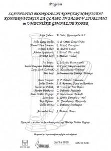 Program koncerta